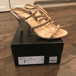 J. Crew Shoes - J.Crew Glynnis Glitter T-Strap High-Heel Sandals
